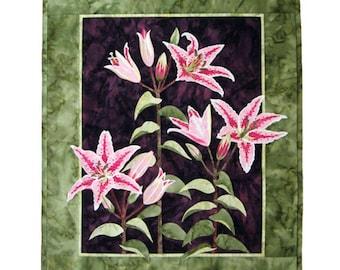 Wildfire Designs Alaska Lily Trinity Stargazer Applique Quilt Pattern