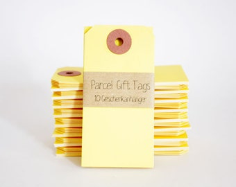 10 Gift Tags Manila - Yellow
