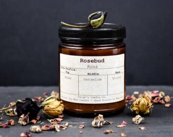 Rosebud Scented Natural Soy Wax Candle