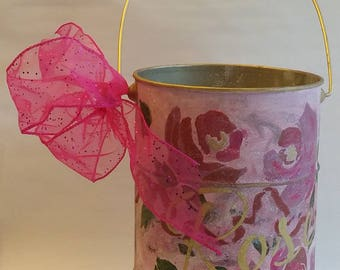 """Tall Vase """"LES ROSES"""" from Springtime in Paris collection"""