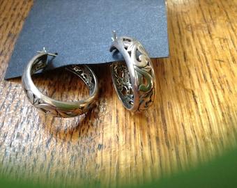 Sterling silver hoops