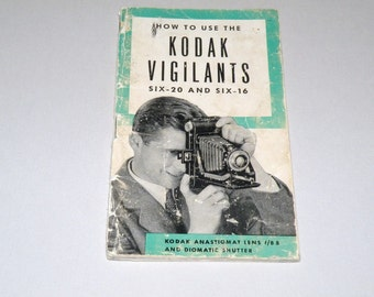 Vintage How to use the Kodak Vigilants six-20 and six 16 Instruction Booklet