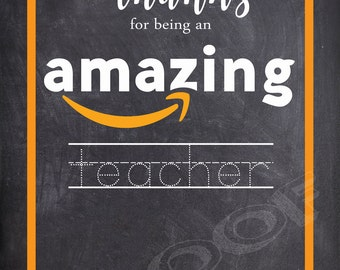 Amazon Gift Card Holder- Teacher