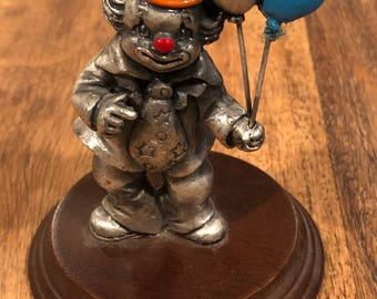 Pewter Clown w/ Balloons by George Good