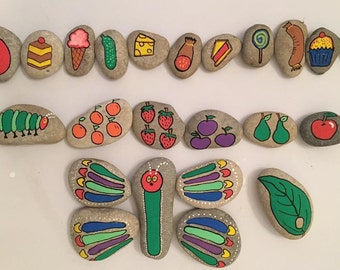 The hungry caterpillar story stones