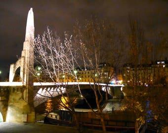 """Photo Art Paris """"The TOURNELLE bridge"""""""