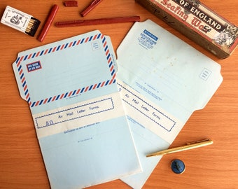 Vintage Aerogrammes Air Letter. Airmail. Letter Paper Ephemera.