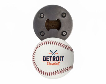 Detroit Tigers | Bottle Opener made from a Real Baseball | The BaseballOpener | Tigers | Tigers Baseball