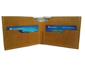 Yellow wallet leather wallet women wallet slim wallet bifold wallet minimalist wallet wallets for women small wallet ladies wallet for women