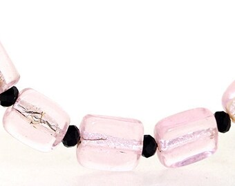 Hole 3mm 5Beads Lampwork beads pink candy beads Handmade jewelry designs  European Style