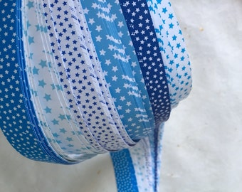 Clearance* Blue Stars~ Weaving Star Paper (52 strips)