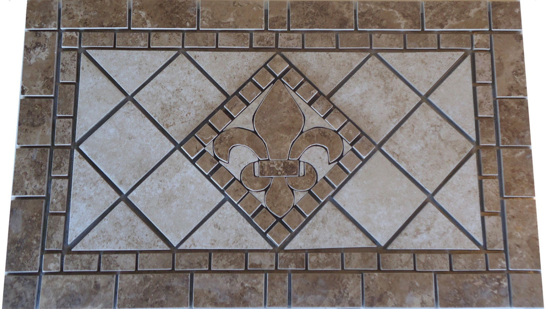 Charro porcelain tile fleur dis lis mosaic medallion zoom dailygadgetfo Image collections