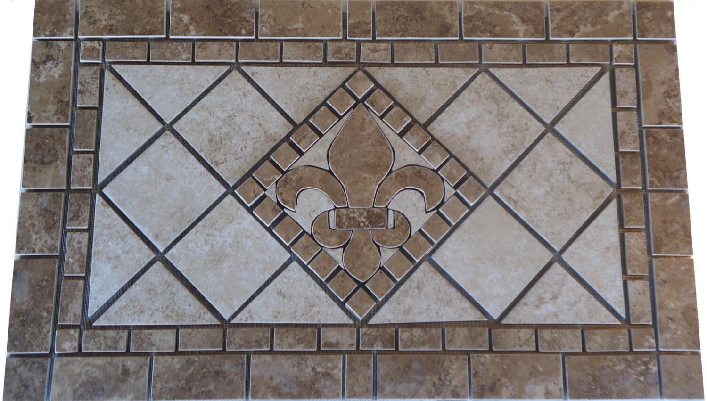 Charro porcelain tile fleur dis lis mosaic medallion charro porcelain tile fleur dis lis mosaic medallion backsplash wall flooring deco inlay art design marble dailygadgetfo Choice Image