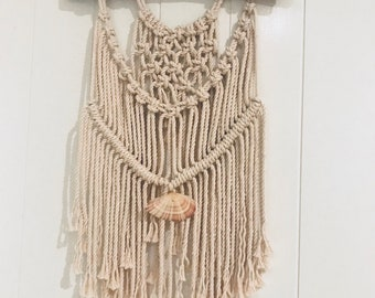She sells sea shells macrame wall hanging