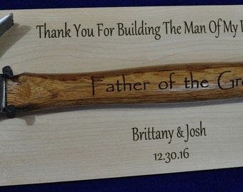 Father Of The Groom ~ Stepfather Of The Groom ~ Engraved Hammer ~ Father In Law Gift ~ Wedding Gift For Dad ~ Wedding Gift For Father In Law