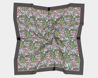 Square Scarf - Pink Hydrangea (2 Sizes)