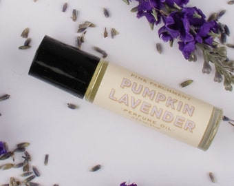 Pumpkin Lavender Perfume Oil - Pumpkin Pie and Lavender - Intriguing Perfume