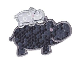 Hippos Applique Design 12 Machine Embroidery Design 4x4 5x7 6x10