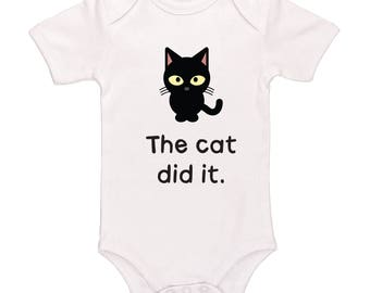 The Cat Did It Bodysuit - Cute Funny Baby Clothing For Baby Boys And Baby Girls, Adorable One-Piece Outfit