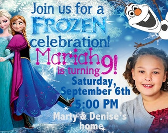 Frozen themed Birthday Invitation