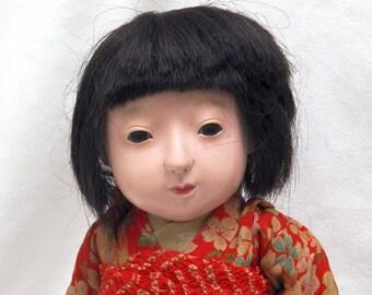 Ichimatsu Gofun Doll Vintage