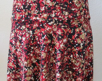 mix color knee length skirt plus made in U.S.A (vn89)