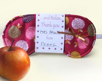 Thank You Gift for Teacher, Gifts for Staff, Apple For Teacher Eye Mask, Sleep Mask, Personalised Teacher Gift, And Relax Sleeping Mask