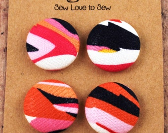 Fabric Covered Button Magnets / Strong Magnets / Refrigerator Magnets / Fridge Magnets