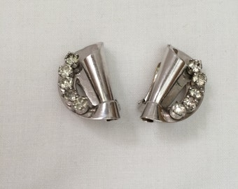 Vintage 1940's-1950's  signed BARCLAY earrings