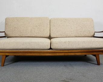 Sofa DAYBED Couch Knoll Antimott sofa bed teak mid century modern design Danish Scandinavian vintage retro 50s 60s 50s 60s Scandinavian