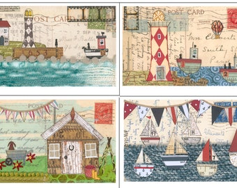 Set of Four Greeting Cards