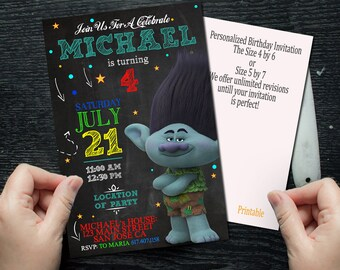 Trolls, Trolls Invitation, Trolls birthday, Trolls Party, Trolls Birthday Invitation, Trolls Party Invitation, Trolls Printable