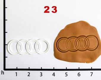 Audi Cookie Cutter Audi birthday Audi party Audi Baby Audi Fabric Audi Shoe Audi Shirt 3D Print 23