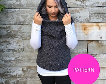 PDF PATTERN Chain link Armored Cowl, fall knit, cowl pattern, knit vest, intermediate knit pattern, beginner knit pattern, knit pattern