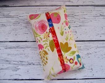 Kleenex travel tissue case in a pretty flower print , pocket tissue , travel tissue, kleenex case