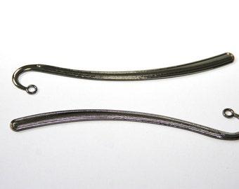 2 PCs. bookmark blanks / metal bookmark / black - gun metal / 122mm  LZ28