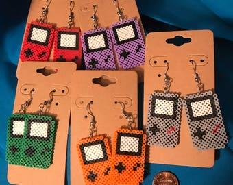 Gameboy Perler Earrings - Original Advance Design