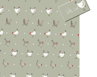 Easter gift wrap etsy chicken wrapping paper easter wrapping paper chicken gift wrap chicken gift hens negle Image collections