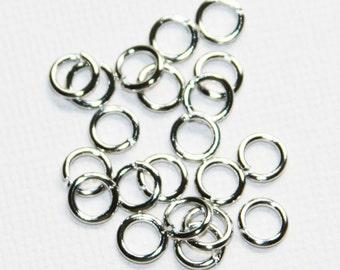 100 pcs of antiqued silver jumpring 6mm round 18 gauge