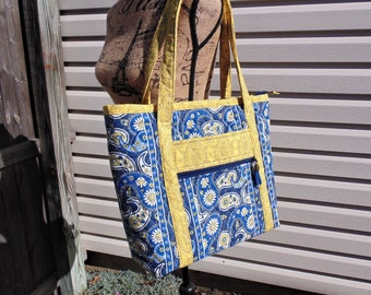 Sale***Zippered Tote Bag, Large Tote, Women's Purse with Pockets, Shoulder bag