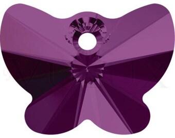 Wholesale Swarovski Butterfly 6754 - 18 mm Amethyst (204)