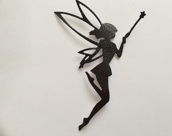 Die cut fairy - black glitter