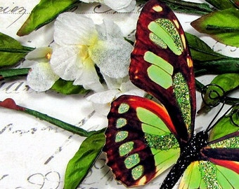 Butterfly Embellishments Garden Green