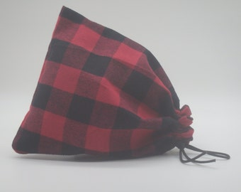 Buffalo Plaid Santa Sack, Christmas Gift Sack, Christmas Plaid Bags, Cloth Gift Bag, Lumberjack Bags, Holiday Gift Wrap, Reusable Gift Bags