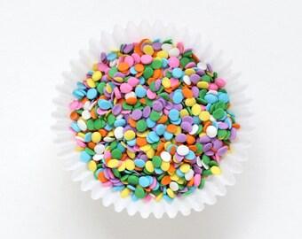 Pastel Confetti Sprinkles, Pastel Rainbow Confetti Quins, Ice Cream Sprinkles, Cupcake Confetti Sprinkles (3 oz)
