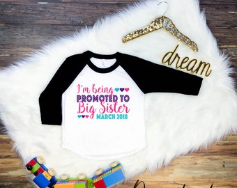 I'm Being Promoted To Big Sister Shirt, Big Sister Shirt, Big Sister Tee, Big Sister Tshirt, Promoted To Big Sister Shirt