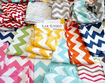 Fabric DESTASH LOT S1007 Over 7 Yards Mixed Chevron Scraps Quilting Cotton Fabric Mostly Riley Blake 3 POUNDS Colorful Quilt Kit