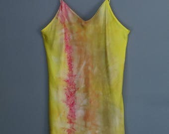 Silk tank top, silk blouse, festival top, silk camisole, size XL, silk lingerie, intimates