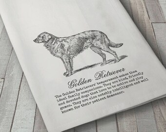 Golden Retriever Dog Towel, Dog Towel, Dog Towel, Dog Lover Towel, Flour sack Towel, Tea Towel, Kitchen Towel, Cotton Towel, Retriever towel