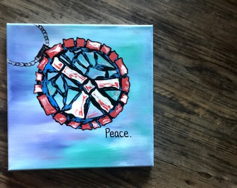 Peace sign pendant painting !